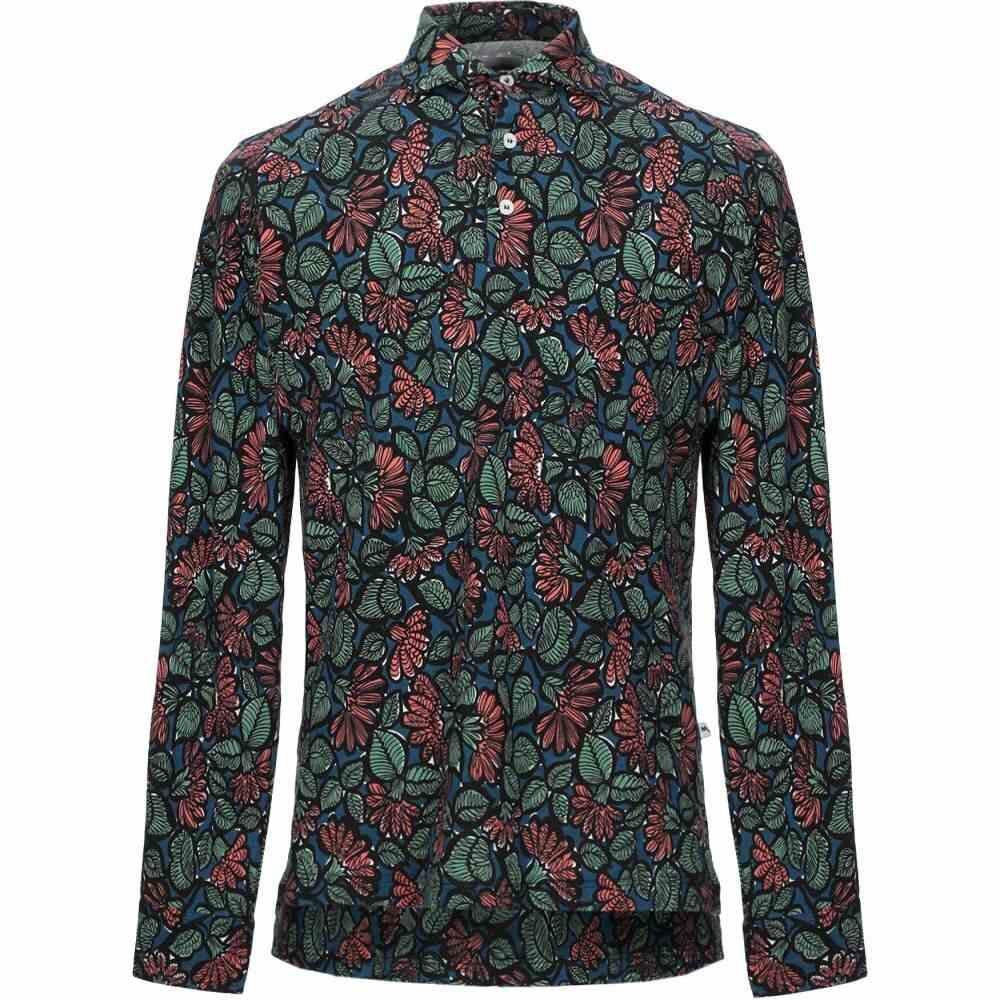 ドッピア アー DOPPIAA メンズ シャツ トップス【patterned shirt】Deep jade