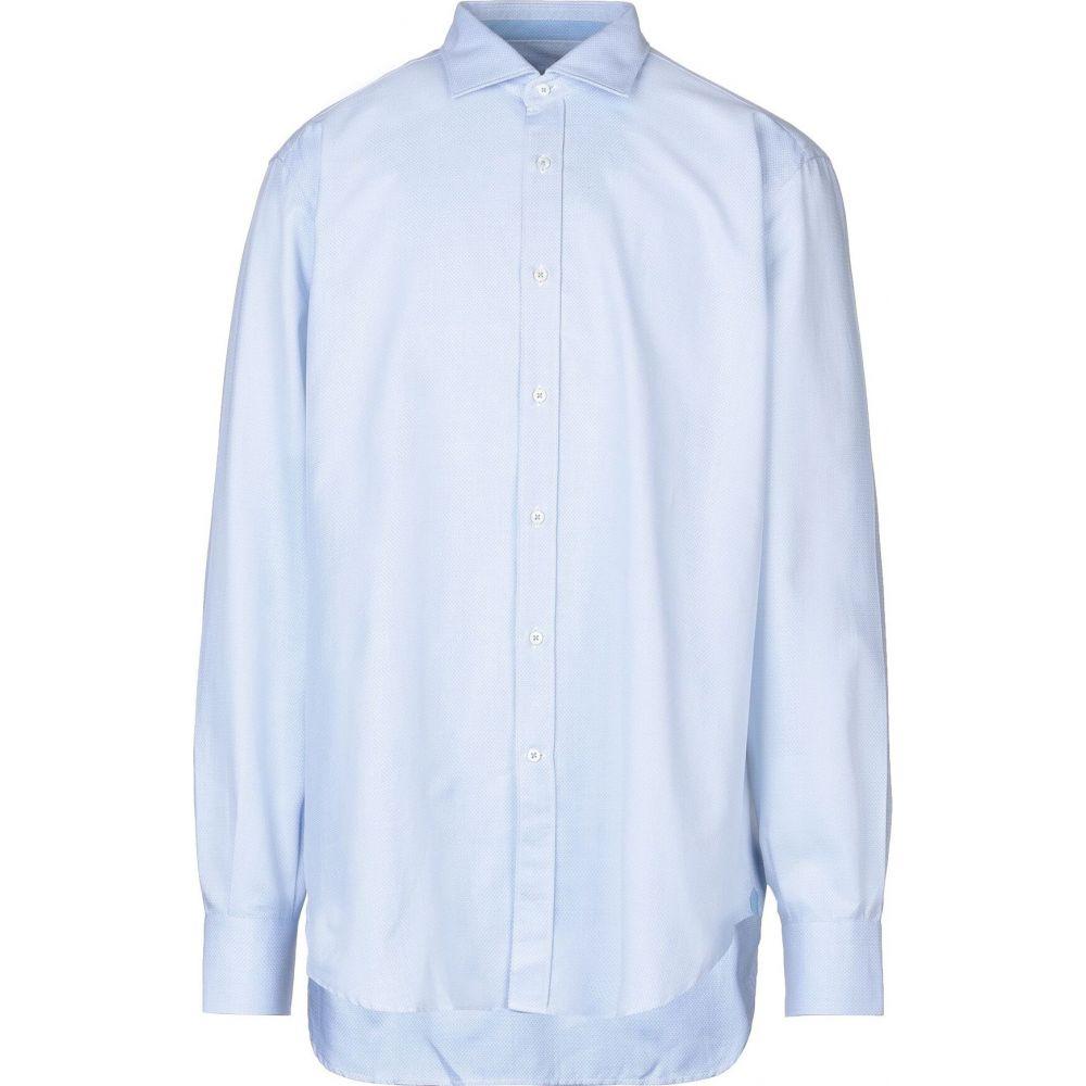 キャリバン CALIBAN メンズ シャツ トップス【patterned shirt】Azure