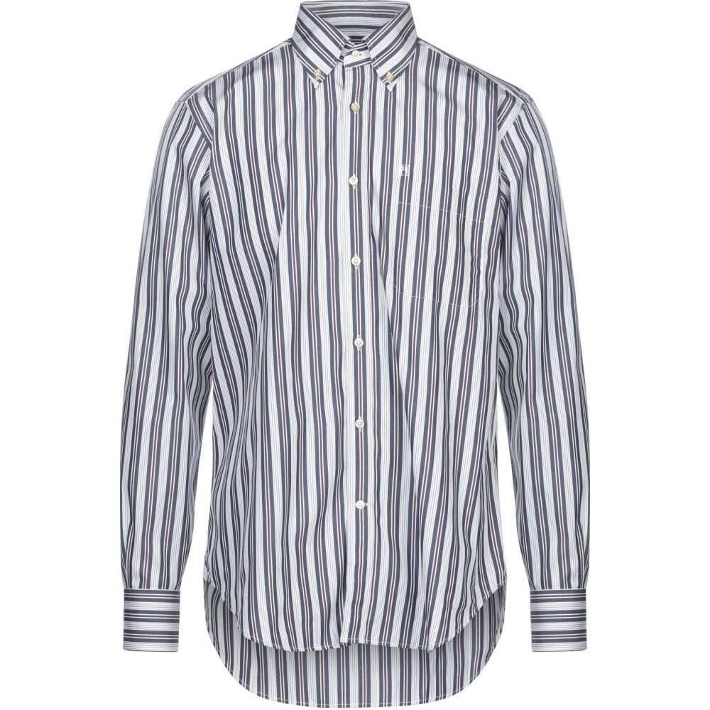 カルロピニャテッリ CARLO PIGNATELLI メンズ シャツ トップス【striped shirt】Dark blue