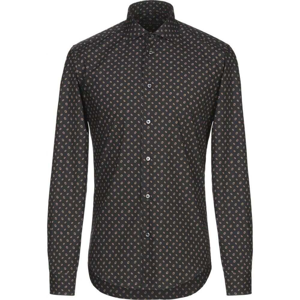 ブライアン デールズ BRIAN DALES メンズ シャツ トップス【patterned shirt】Black