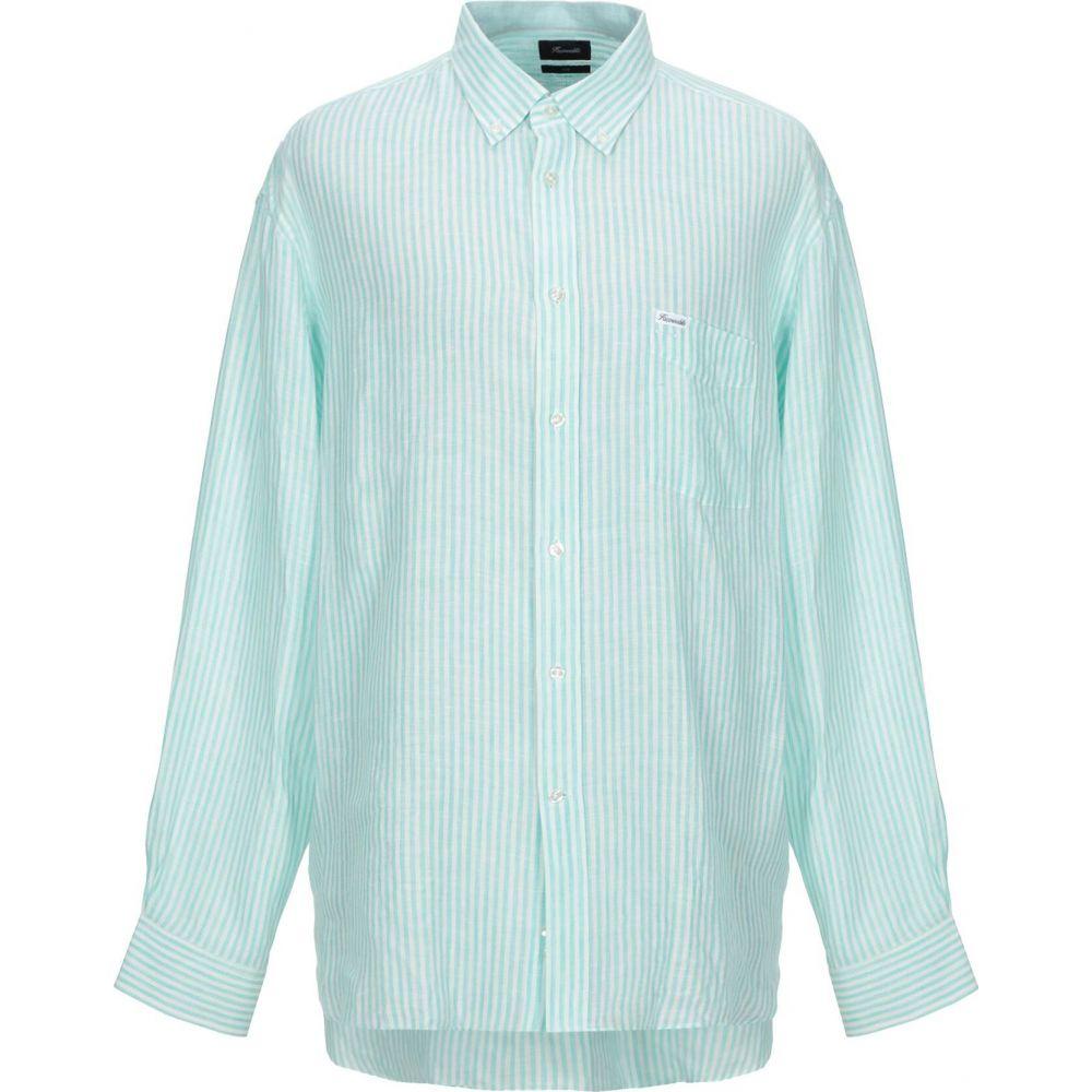ファソナブル FACONNABLE メンズ シャツ トップス【linen shirt】Light green