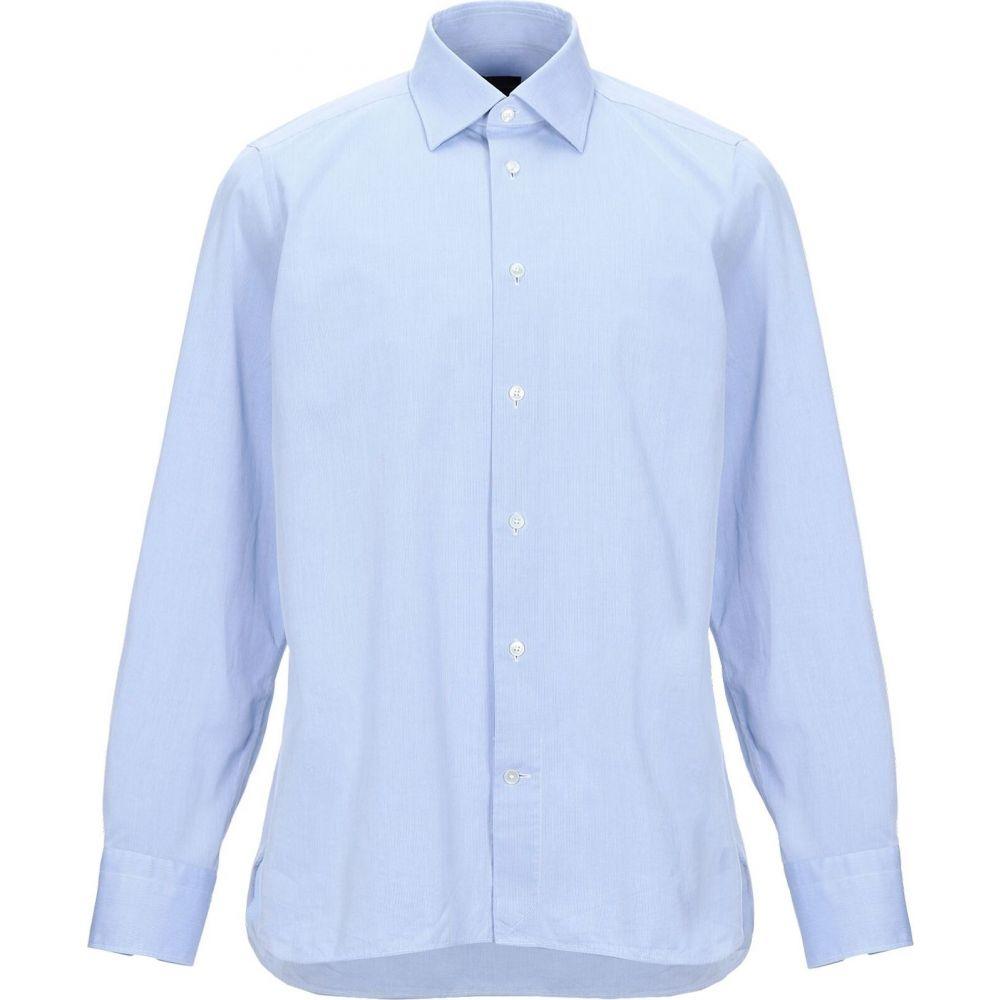 エルメネジルド ゼニア ERMENEGILDO ZEGNA メンズ シャツ トップス【striped shirt】Sky blue