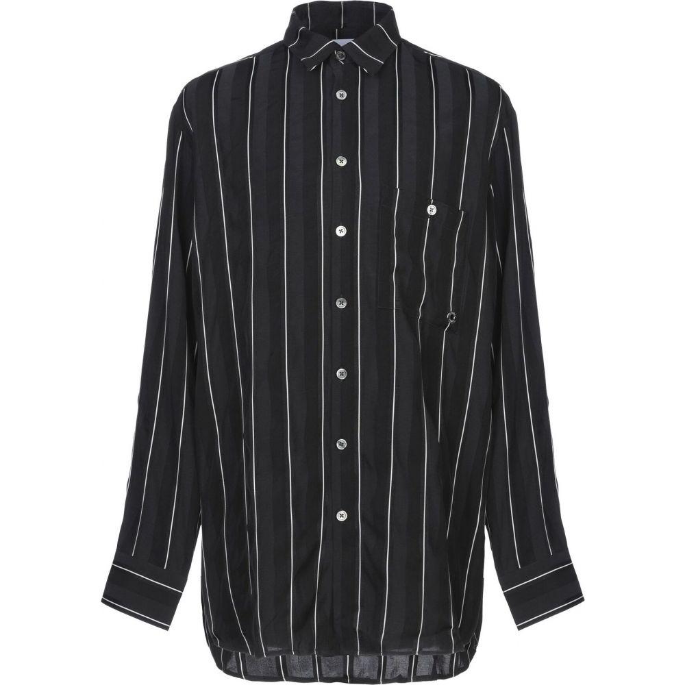 エチュード ETUDES STUDIO メンズ シャツ トップス【striped shirt】Black
