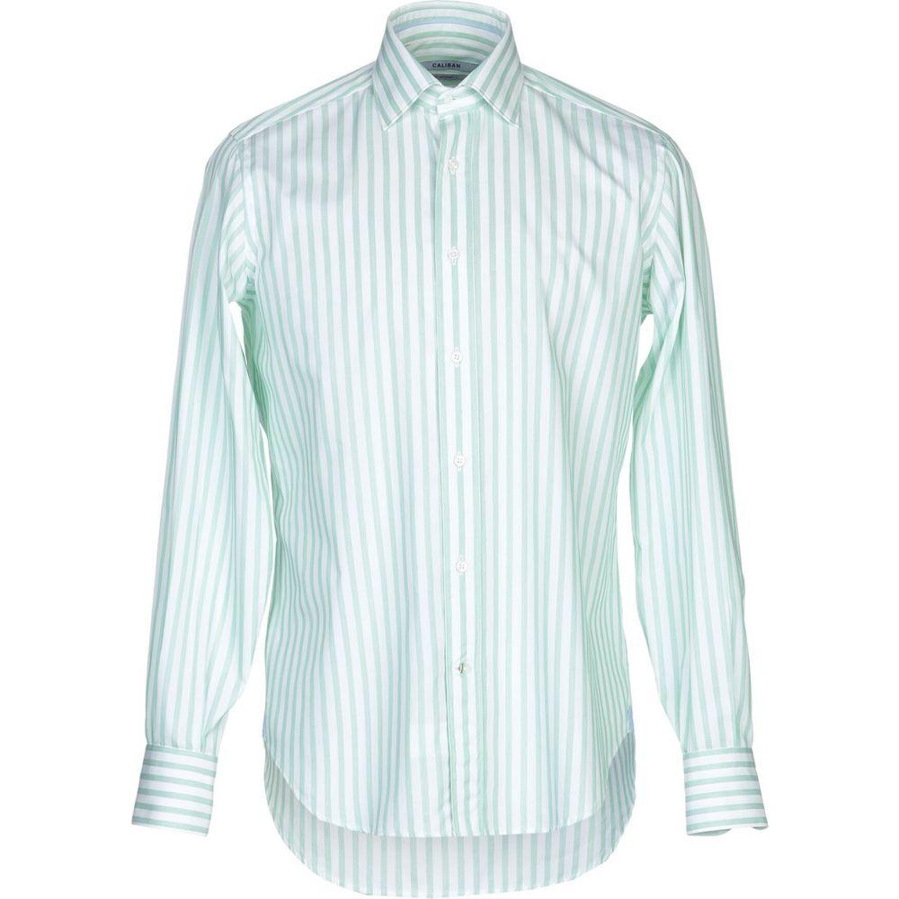 キャリバン CALIBAN メンズ シャツ トップス【striped shirt】Light green
