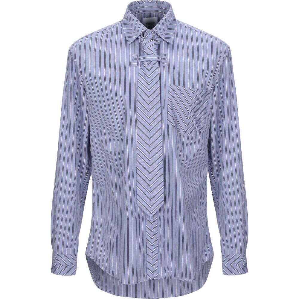 バーバリー BURBERRY メンズ シャツ トップス【striped shirt】Slate blue