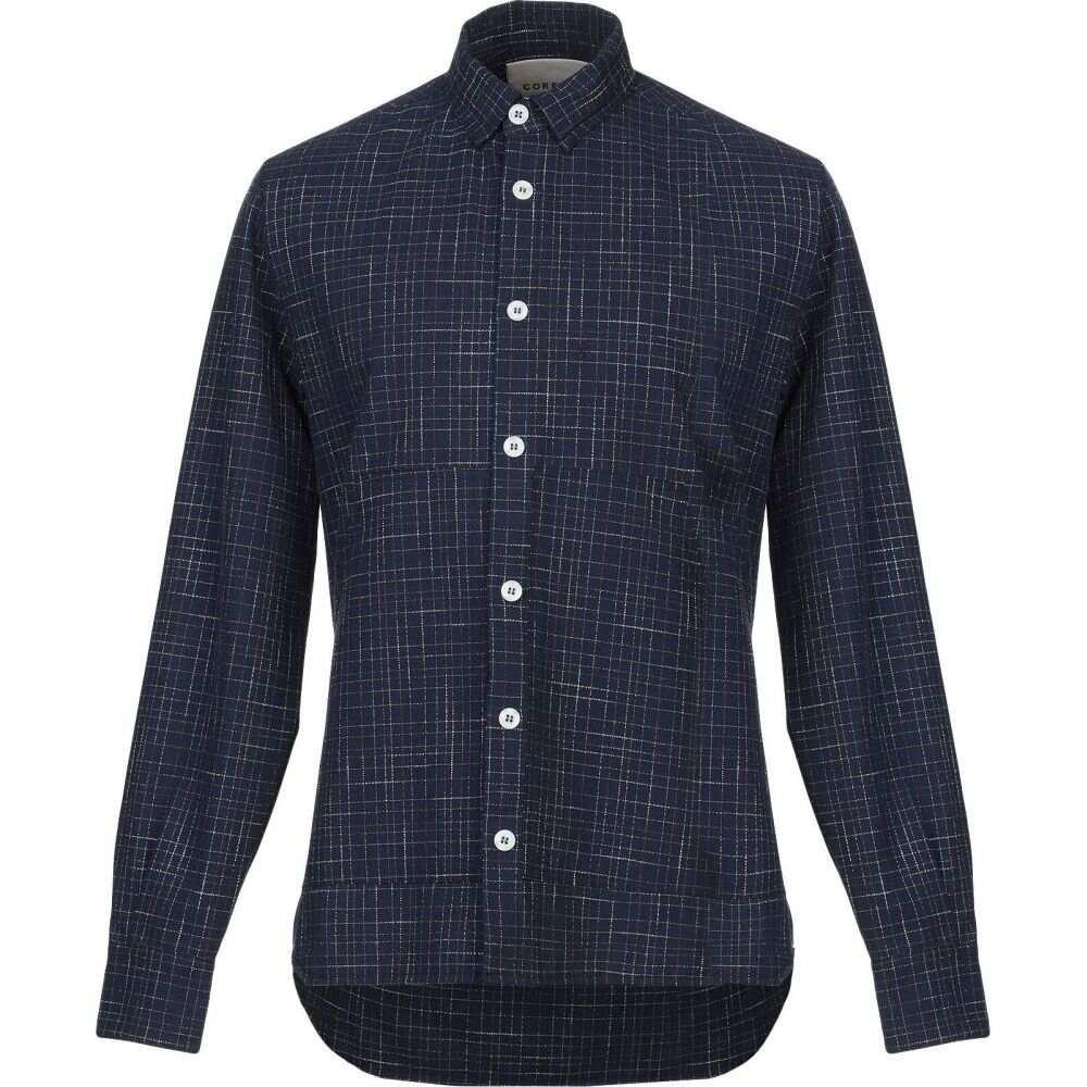 コラレート CORELATE メンズ シャツ トップス【checked shirt】Dark blue