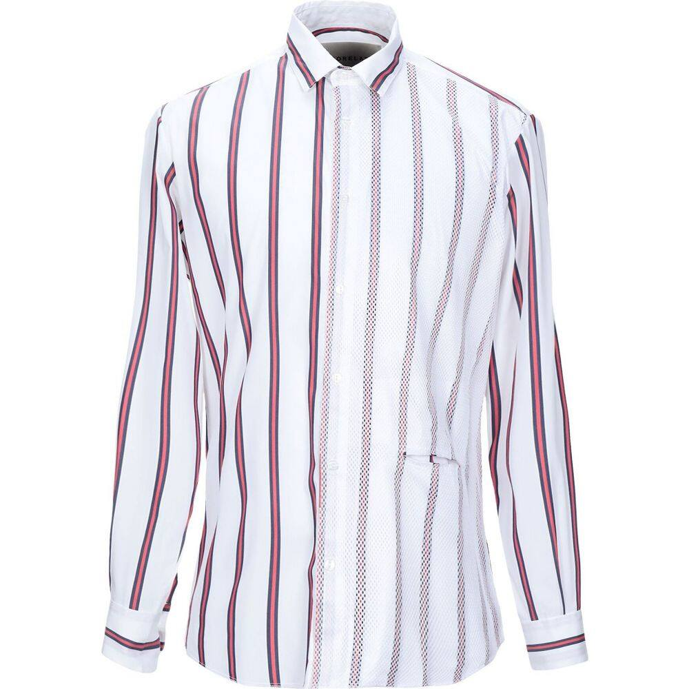 コラレート CORELATE メンズ シャツ トップス【striped shirt】White