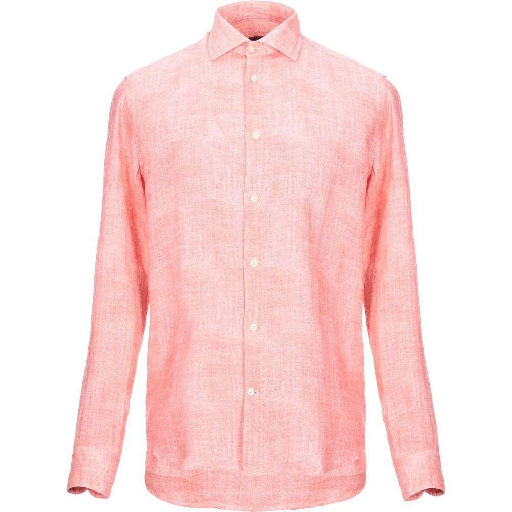ドルモア DRUMOHR メンズ シャツ トップス【linen shirt】Salmon pink