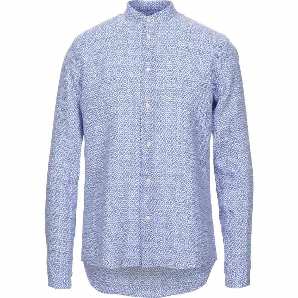 ドルモア DRUMOHR メンズ シャツ トップス【linen shirt】Bright blue
