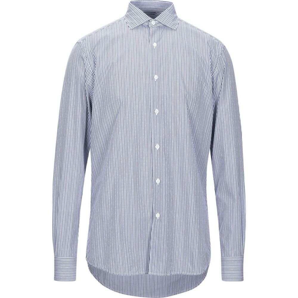 エルメネジルド ゼニア ERMENEGILDO ZEGNA メンズ シャツ トップス【striped shirt】Blue