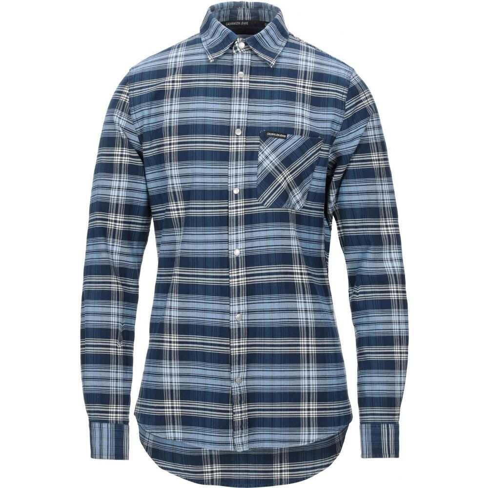 カルバンクライン CALVIN KLEIN JEANS メンズ シャツ トップス【checked shirt】Blue