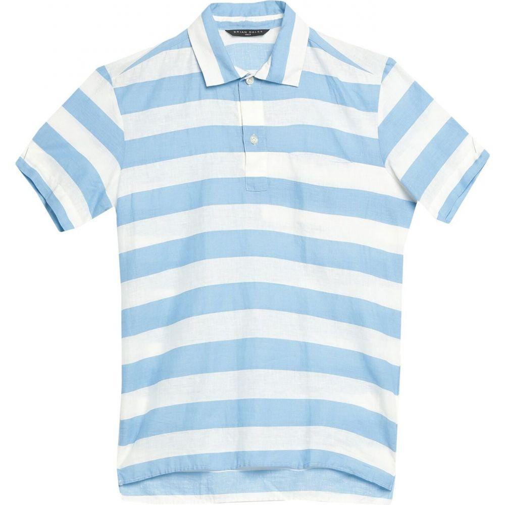 ブライアン デールズ BRIAN DALES メンズ シャツ トップス【linen shirt】Sky blue