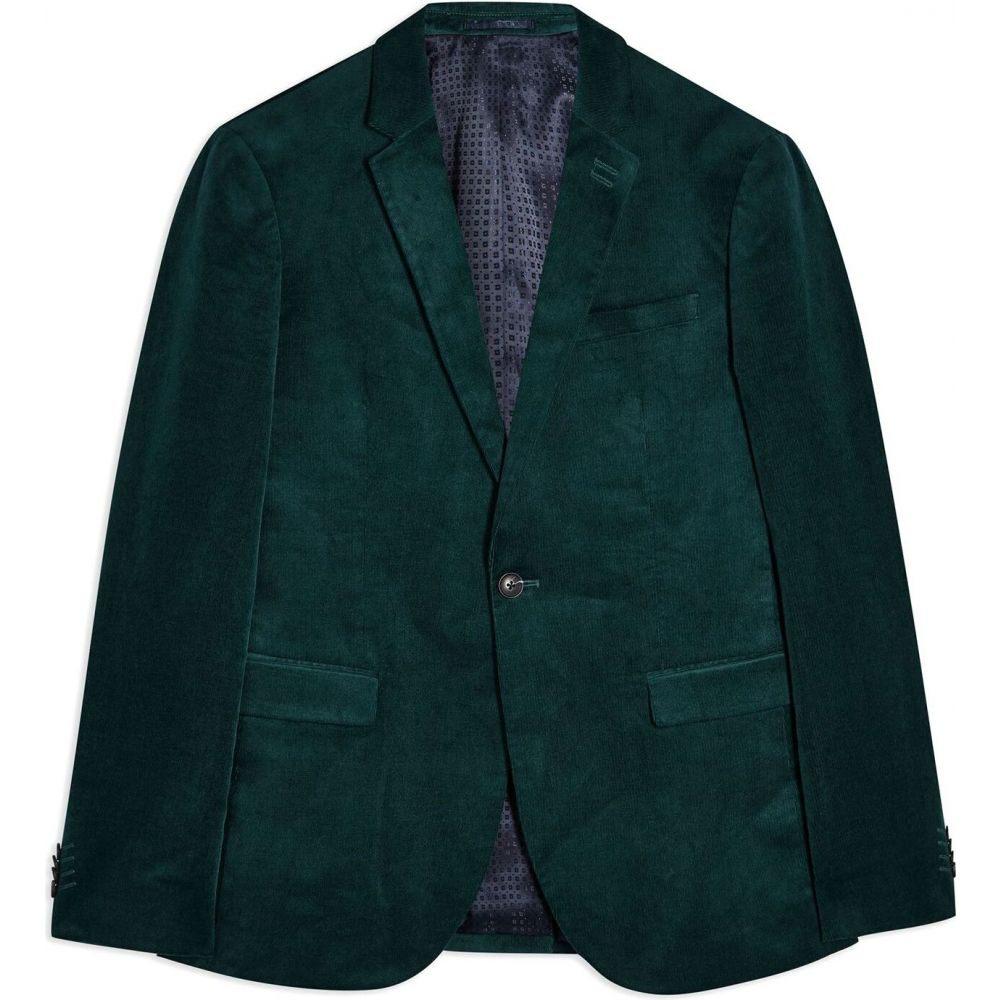 トップマン TOPMAN メンズ スーツ・ジャケット アウター【sb1 sk grn alis crd blazer】Deep jade