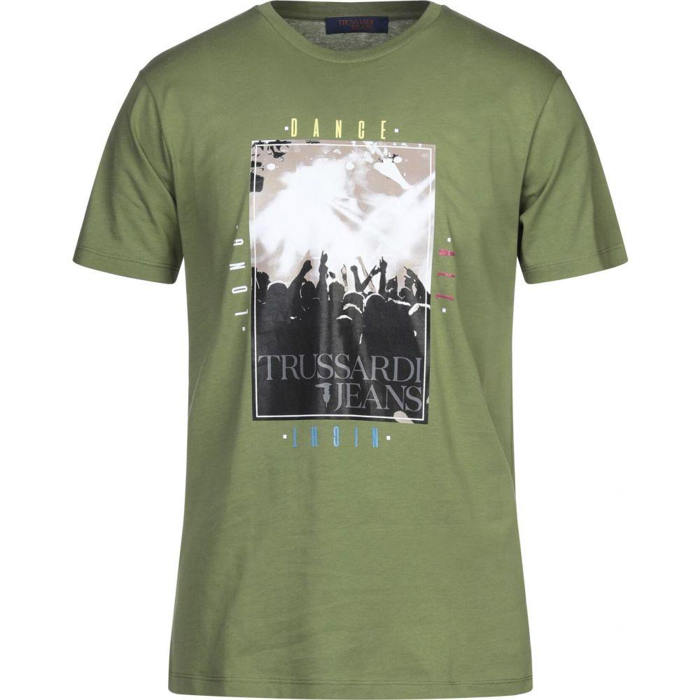 格安即決 トラサルディ TRUSSARDI JEANS メンズ Tシャツ トップス トラサルディ【t-shirt】Military メンズ TRUSSARDI green, 通販のネオスチール:72fe4370 --- kanvasma.com