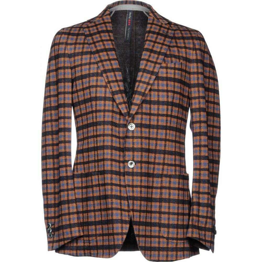 トンボリーニ TOMBOLINI メンズ スーツ・ジャケット アウター【blazer】Brown
