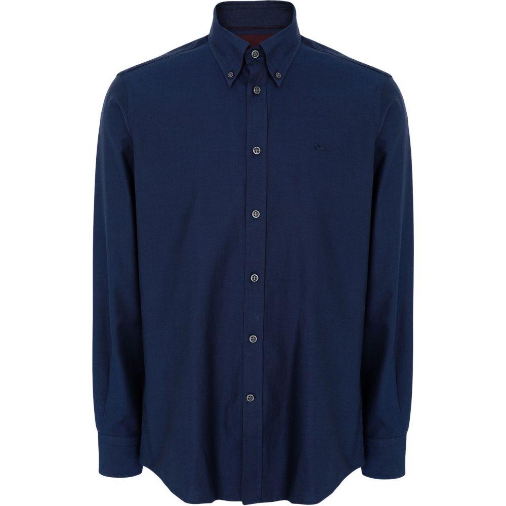 ハーモント アンド ブレイン HARMONT&BLAINE メンズ シャツ トップス【patterned shirt】Blue
