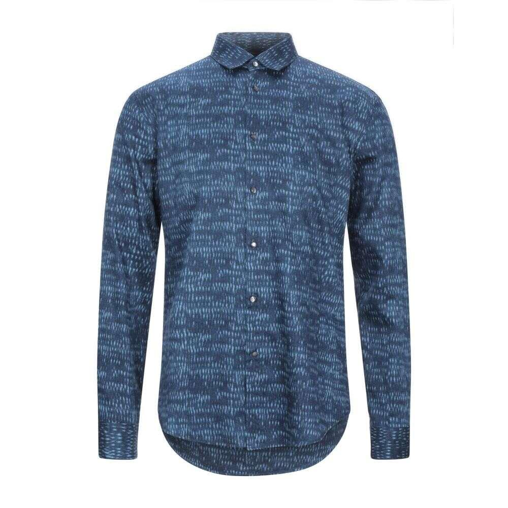 ジョン バルベイトス JOHN VARVATOS メンズ シャツ トップス【patterned shirt】Slate blue