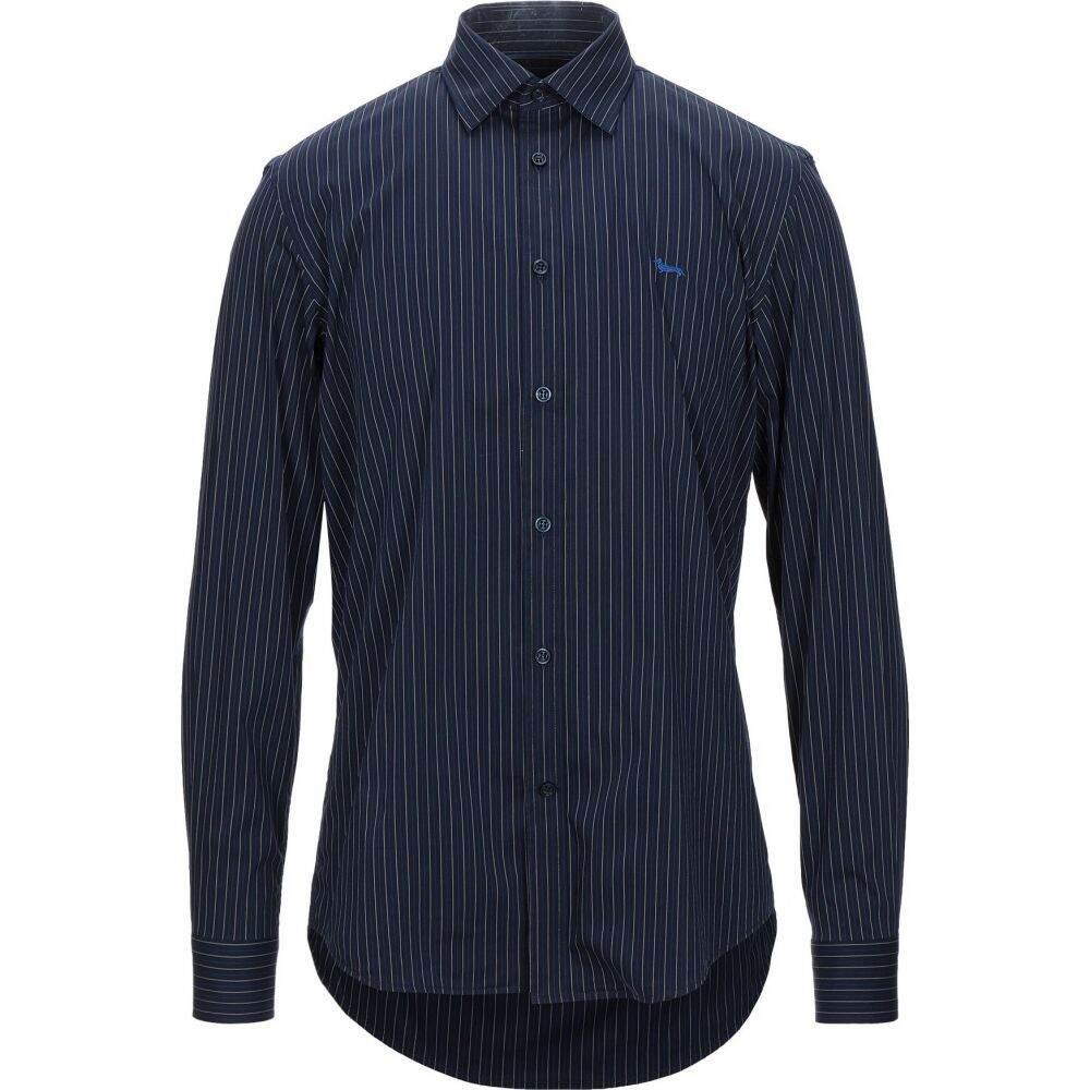 ハーモント アンド ブレイン HARMONT&BLAINE メンズ シャツ トップス【striped shirt】Dark blue