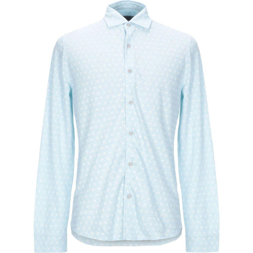 ヘリテイジ HERITAGE メンズ シャツ トップス【patterned shirt】Sky blue