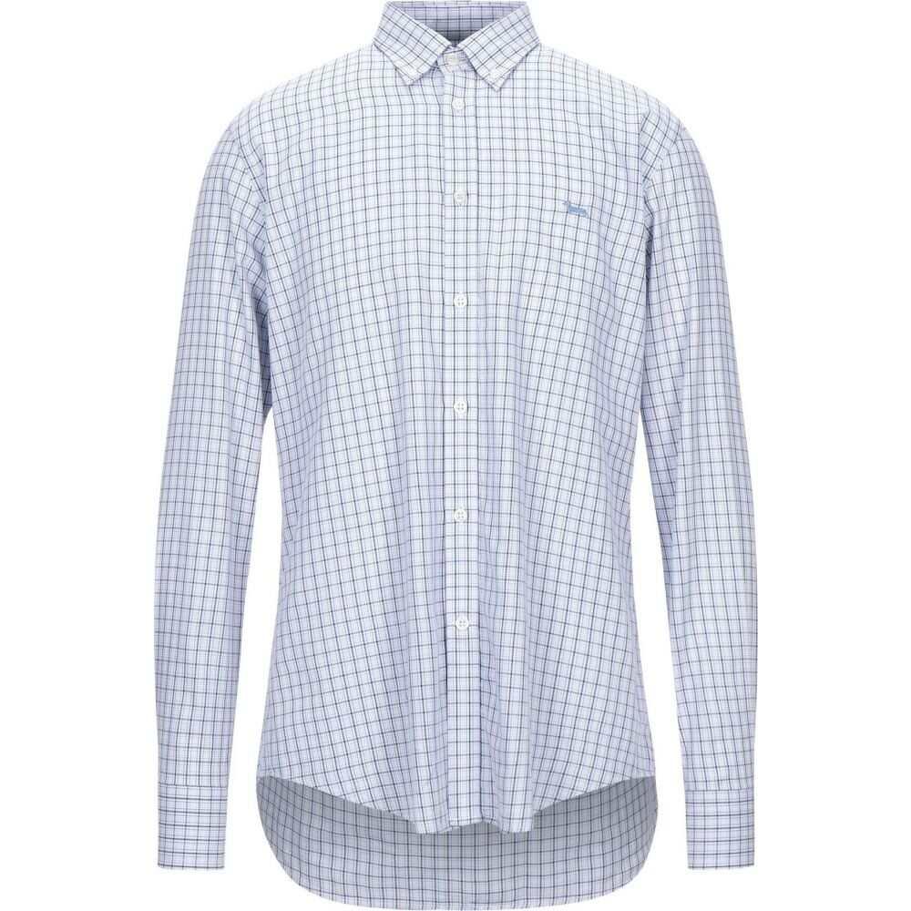 ハーモント アンド ブレイン HARMONT&BLAINE メンズ シャツ トップス【checked shirt】Blue