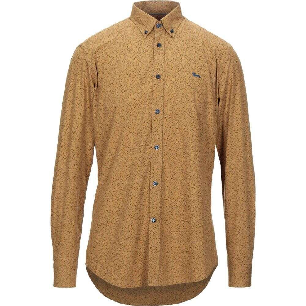 ハーモント アンド ブレイン HARMONT&BLAINE メンズ シャツ トップス【patterned shirt】Ocher