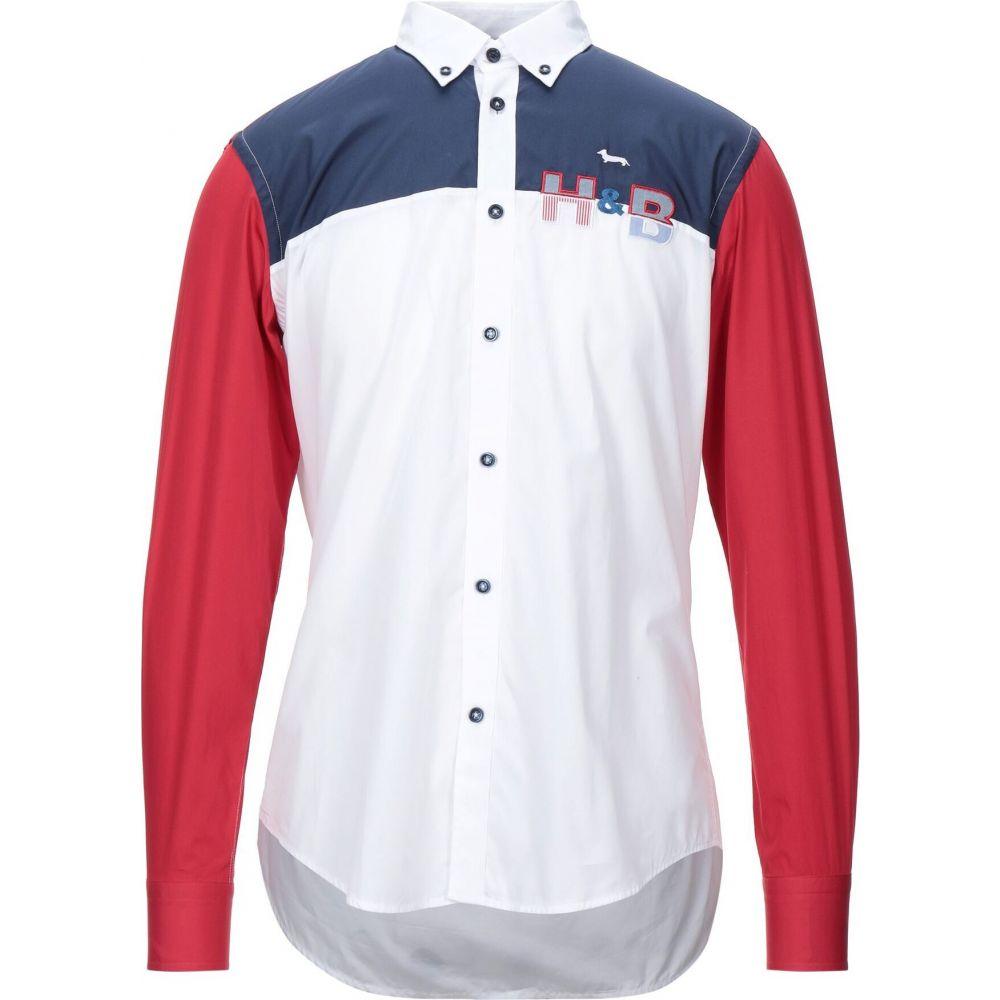 ハーモント アンド ブレイン HARMONT&BLAINE メンズ シャツ トップス【patterned shirt】White