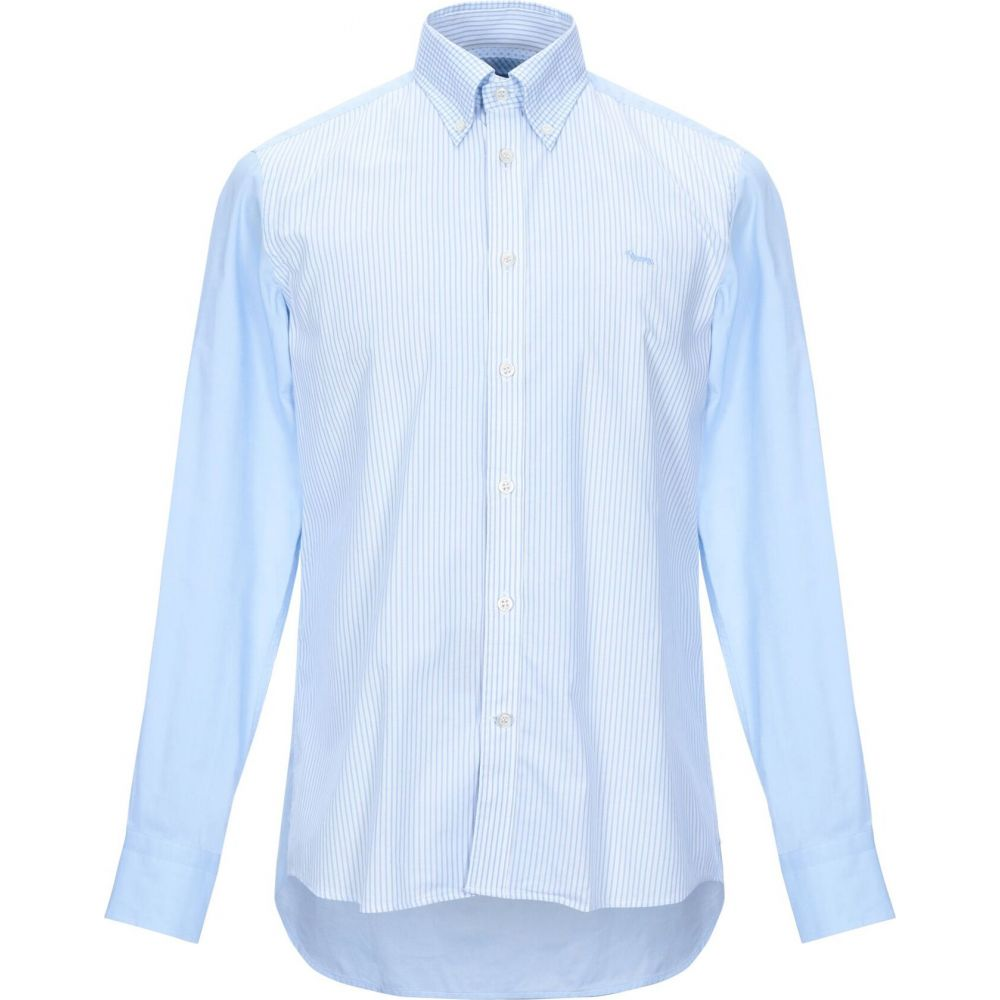 ハーモント アンド ブレイン HARMONT&BLAINE メンズ シャツ トップス【striped shirt】Sky blue