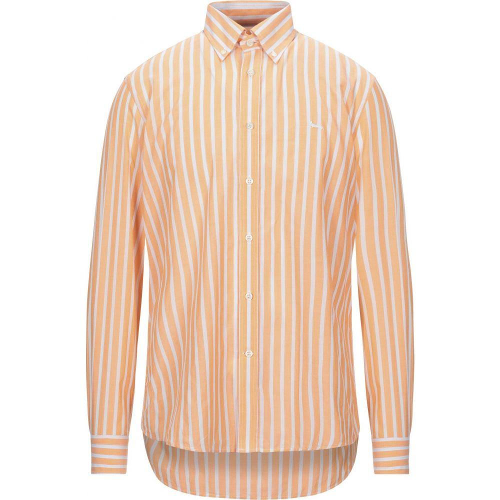 ハーモント アンド ブレイン HARMONT&BLAINE メンズ シャツ トップス【striped shirt】Orange
