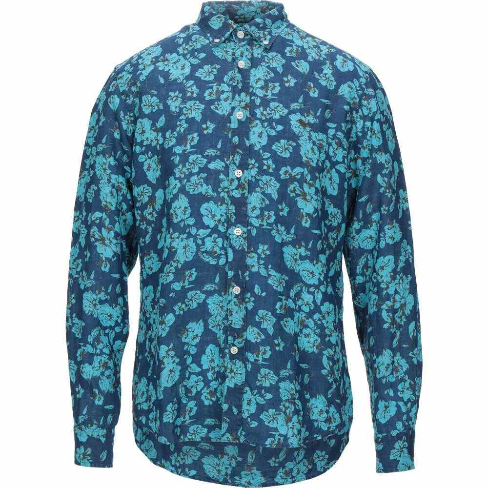 ハーモント アンド ブレイン HARMONT&BLAINE メンズ シャツ トップス【linen shirt】Dark blue