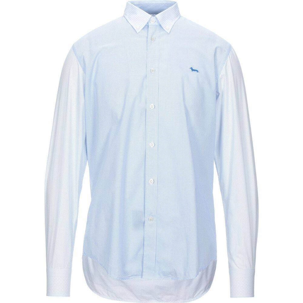 ハーモント アンド ブレイン HARMONT&BLAINE メンズ シャツ トップス【checked shirt】Sky blue