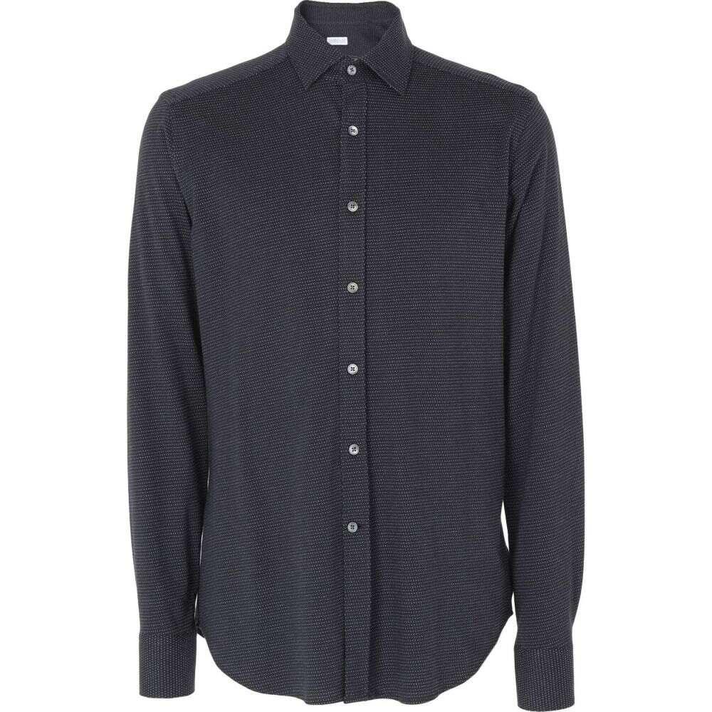 ハリスワーフロンドン HARRIS WHARF LONDON メンズ シャツ トップス【patterned shirt】Dark blue