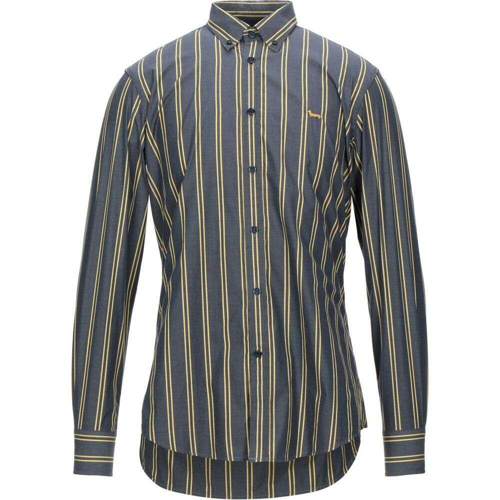 ハーモント アンド ブレイン HARMONT&BLAINE メンズ シャツ トップス【striped shirt】Lead