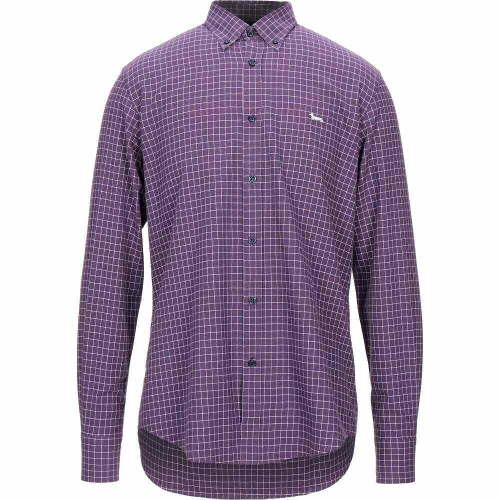ハーモント アンド ブレイン HARMONT&BLAINE メンズ シャツ トップス【checked shirt】Purple