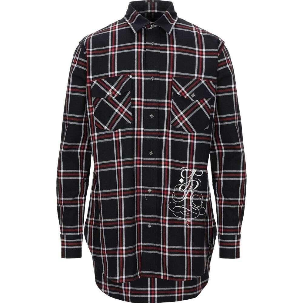 ジョン リッチモンド JOHN RICHMOND メンズ シャツ トップス【checked shirt】Black