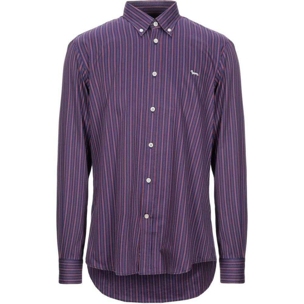 ハーモント アンド ブレイン HARMONT&BLAINE メンズ シャツ トップス【striped shirt】Purple