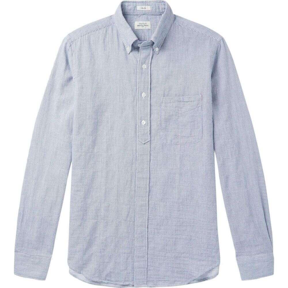 ハートフォード HARTFORD メンズ シャツ トップス【striped shirt】Dark blue