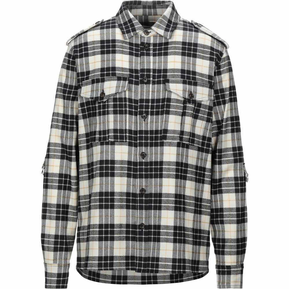 インノミネイト IH NOM UH NIT メンズ シャツ トップス【checked shirt】Ivory