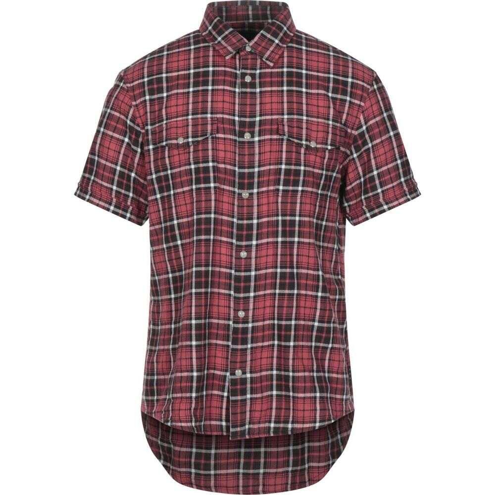 ジョン バルベイトス JOHN VARVATOS U.S.A. メンズ シャツ トップス【checked shirt】Red