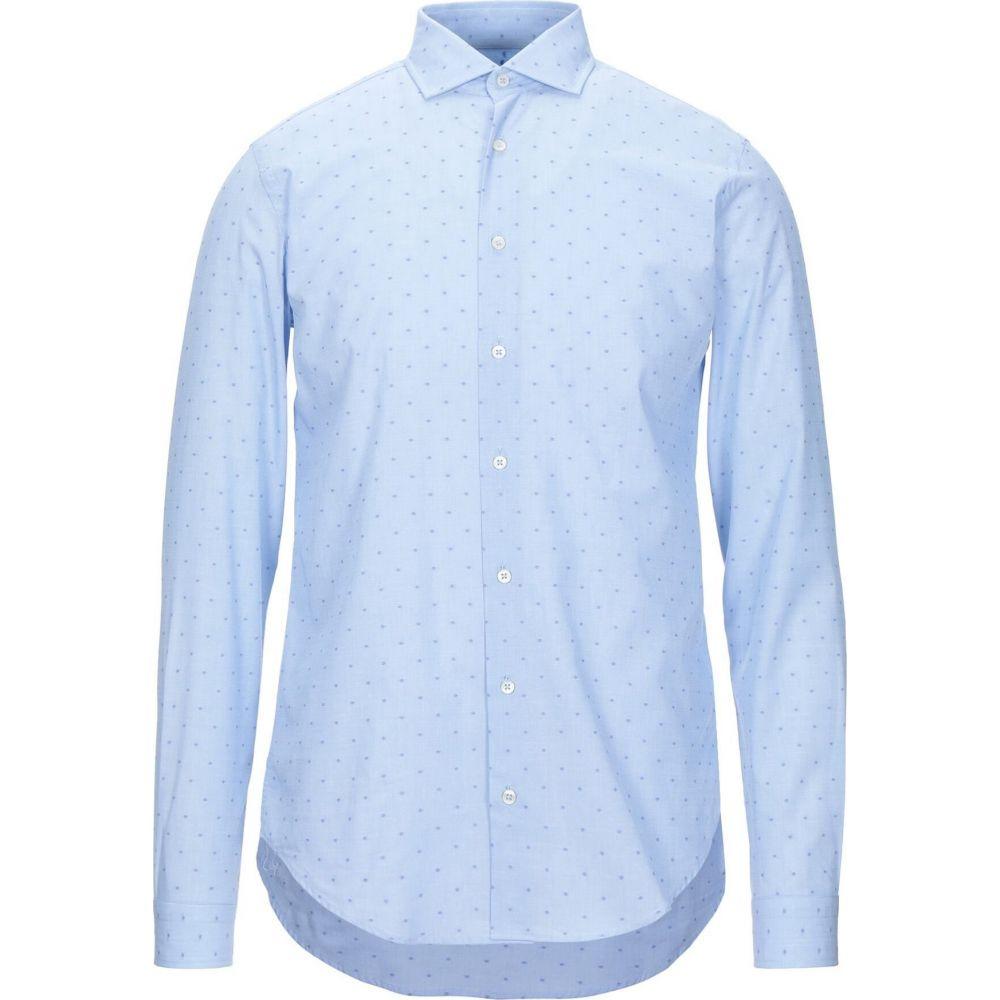 ハマキホ HAMAKI-HO メンズ シャツ トップス【patterned shirt】Sky blue