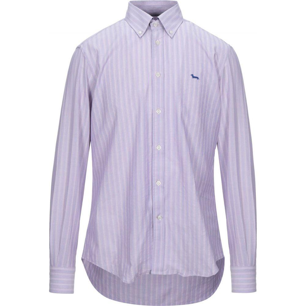 ハーモント アンド ブレイン HARMONT&BLAINE メンズ シャツ トップス【striped shirt】Lilac