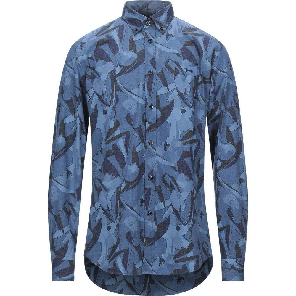 ハーモント アンド ブレイン HARMONT&BLAINE メンズ シャツ トップス【patterned shirt】Slate blue