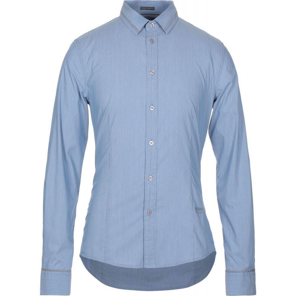 ゲス GUESS メンズ シャツ トップス【striped shirt】Blue