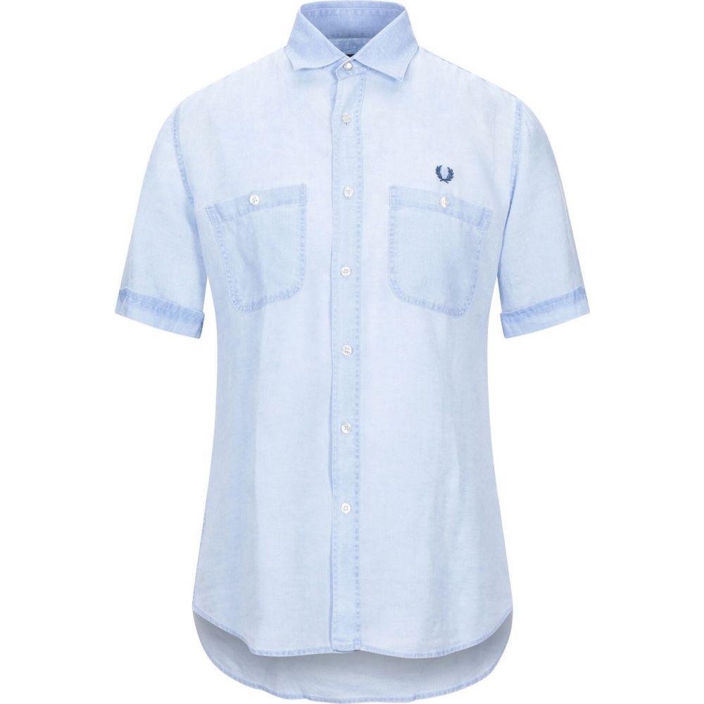 フレッドペリー FRED PERRY メンズ シャツ トップス【linen shirt】Sky blue