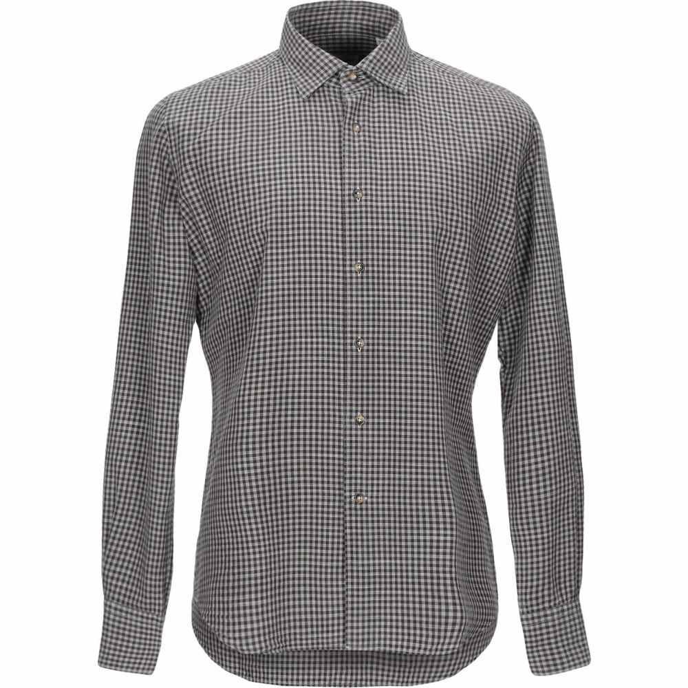 グランシャツ GLANSHIRT メンズ シャツ トップス【checked shirt】Brown