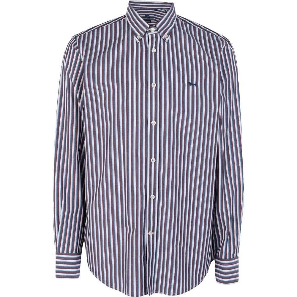 ハーモント アンド ブレイン HARMONT&BLAINE メンズ シャツ トップス【striped shirt】Slate blue