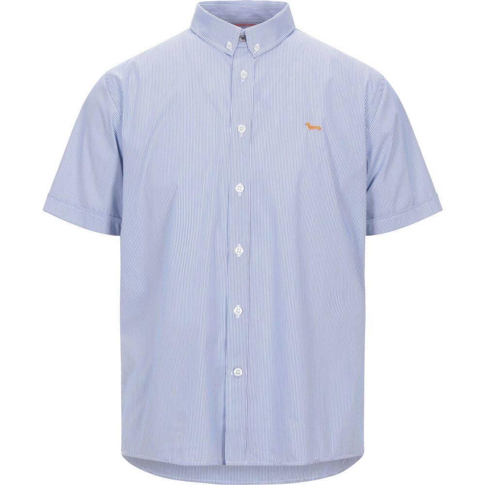 ハーモント アンド ブレイン HARMONT&BLAINE メンズ シャツ トップス【striped shirt】Azure