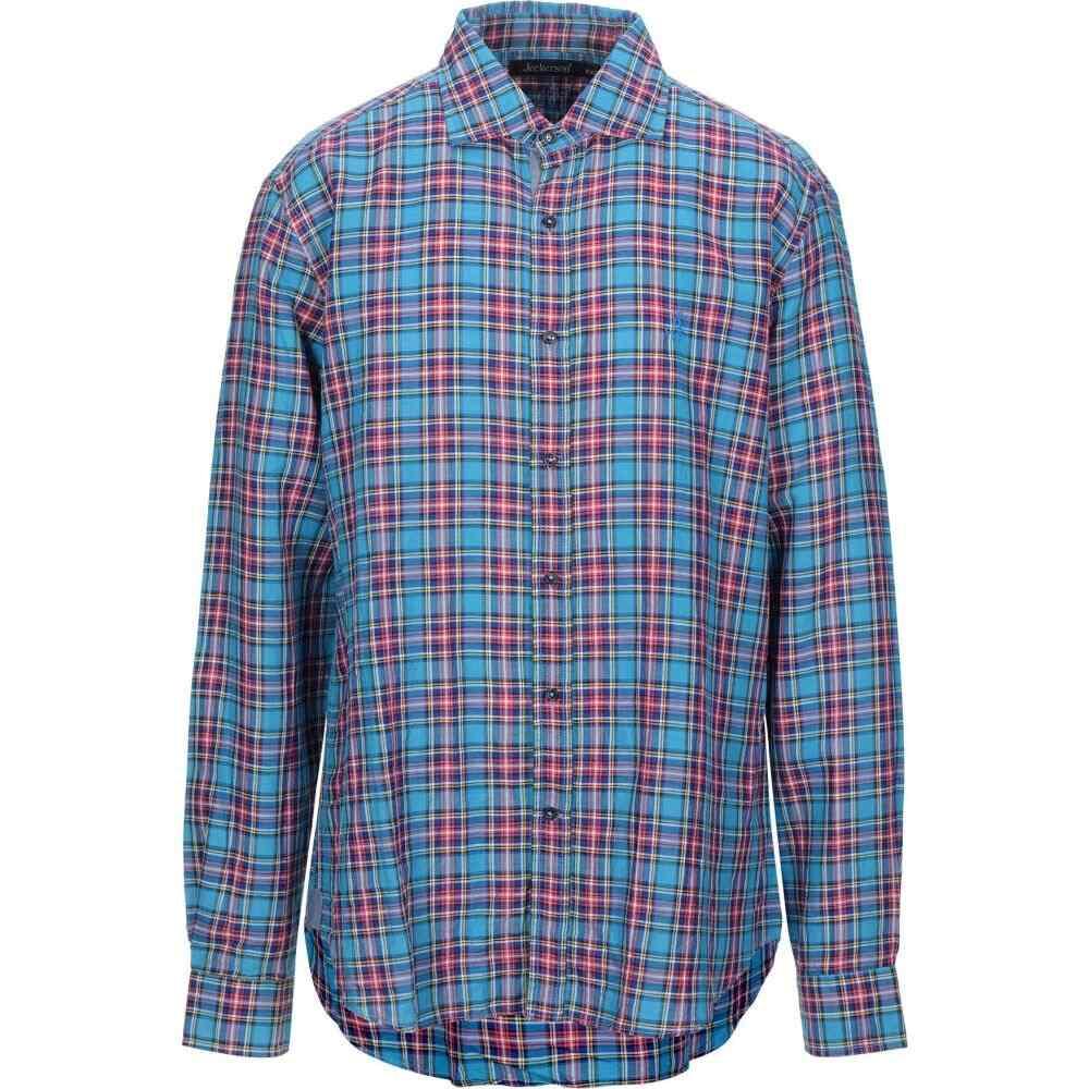 ジェッカーソン JECKERSON メンズ シャツ トップス【checked shirt】Azure