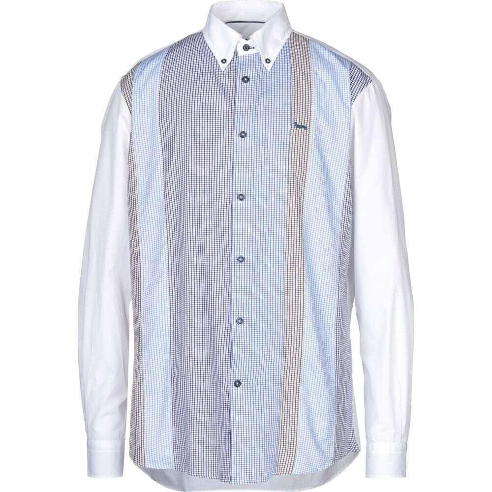 ハーモント アンド ブレイン HARMONT&BLAINE メンズ シャツ トップス【checked shirt】White
