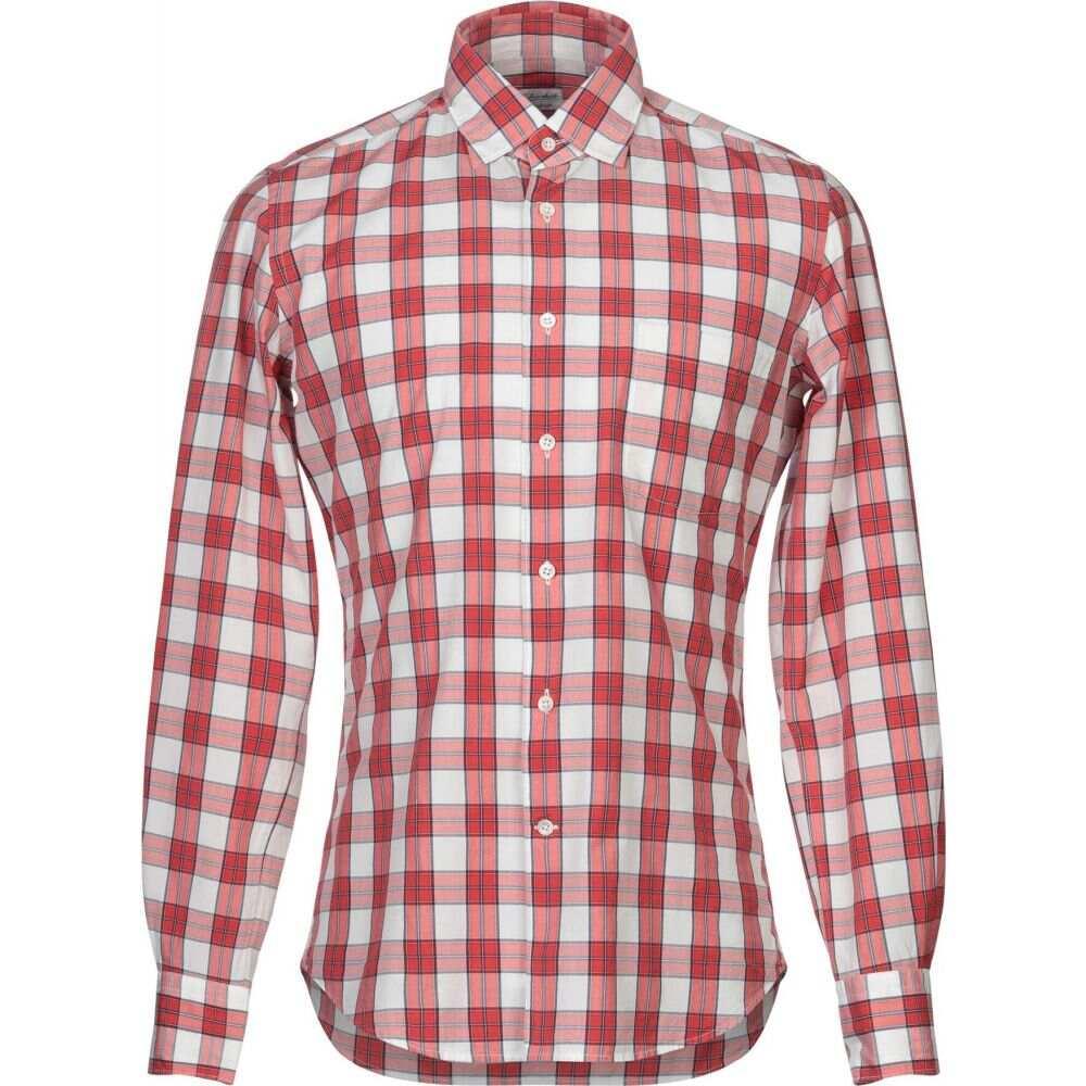 グランシャツ GLANSHIRT メンズ シャツ トップス【checked shirt】Red