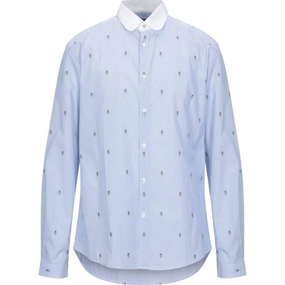 グッチ GUCCI メンズ シャツ トップス【striped shirt】Sky blue